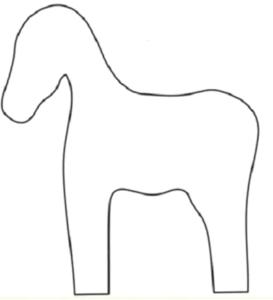 простая лошадка выкройка